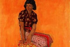 Endel Kõks. Mustlastüdruk Astra. 1940. Õli, lõuend. 104,5x109,6