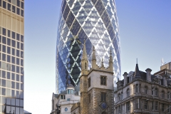 5. The Gherkin designed by architects Foster and Partners opened in 2004. Photo Wikipedia Commons