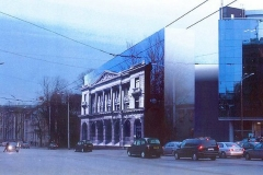 7. First proposal for re-erecting the building in Tallinn. Schematic design by architect Toomas Rank, 2007