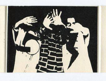 Invitation card by the Lithuanian Artists' Union 'Art Dizainas iš Talino' (Art Design from Tallinn), 1987