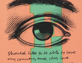Sister Mary Corita. E Eye Love. 1968. Silkscreen. Art Museum of Estonia