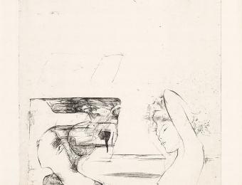 Marju Mutsu. Wind. 1972. Etching. Art Museum of Estonia