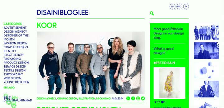 Design blog gathers good Estonian designs