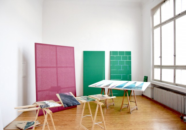Laura Põld's studio at Ateliers Höherweg e.V.