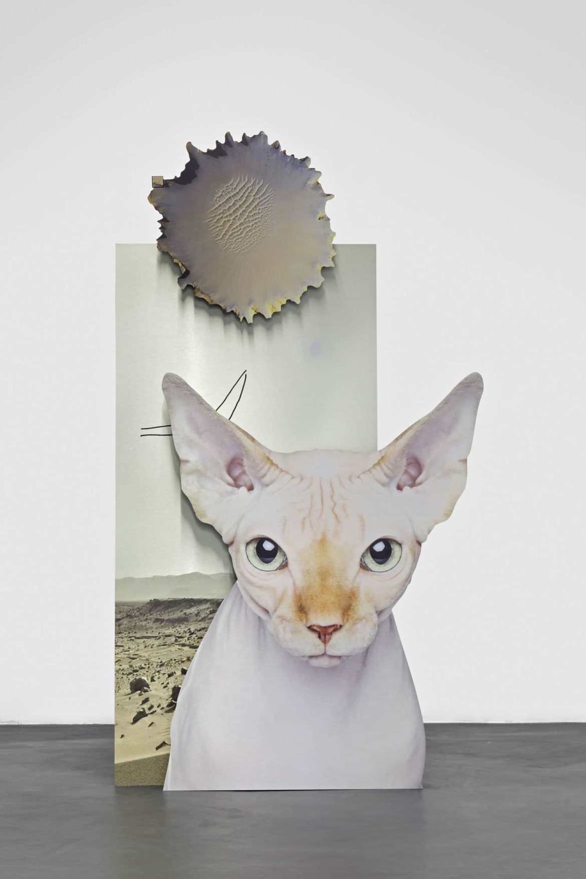 "Katja Novitskova ""Mars Potential (Cat)"", 2015. Photo: Florian Kleinefenn. Courtesy of the artist and Galerie Max Hetzler, Berlin/Paris"