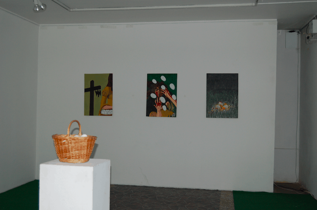 Mihkel Kleis, exhibition view. Artishok Biennial. 2008. Curated by Maarin Ektermann and Margus Tamm at Tallinn City Gallery. Example of exhibition documentation as part of an archiving assignment during 2005–2009.