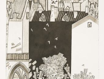 Vive Tolli. View from the Writer's Window. 1974. Etching. Art Museum of Estonia